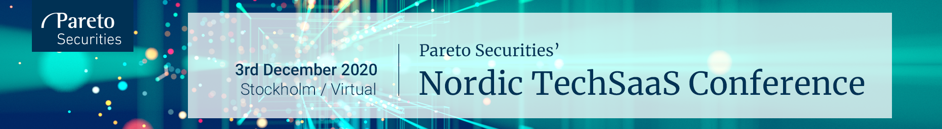 Header image for Pareto Securities' Nordic TechSaaS Conference