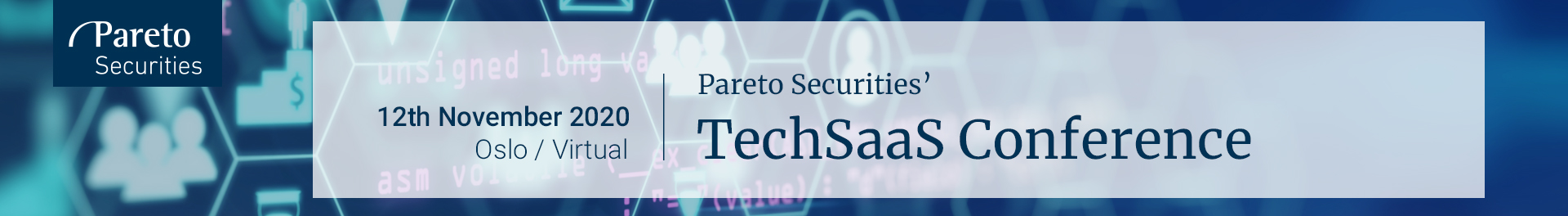 Header image for Pareto Securities' TechSaaS Conference