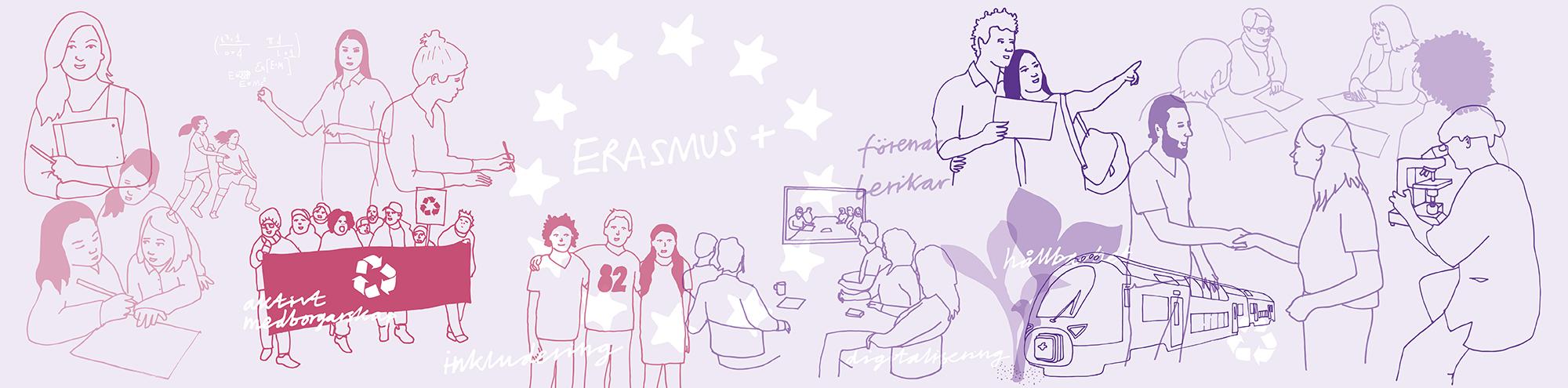 Huvudbild för Erasmus+ lansering 19 mars