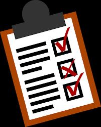 Bild på en checklista