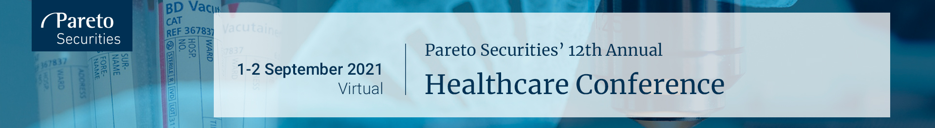 Header image for  Pareto Securities' 12th Annual Healthcare Conference