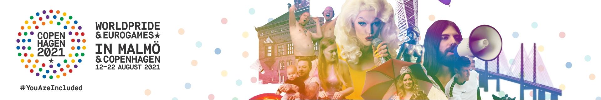 Header image for WorldPride and EuroGames 2021