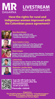Profilbild för Rural and Indigenous Women rights – improved by peace agreement?