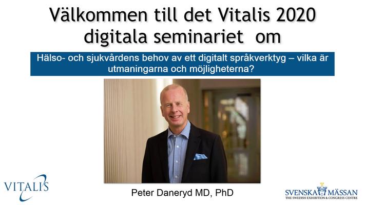 Profile image for Hälso- och sjukvårdens behov av digitalt språkverktyg – vilka är utmaningarna och möjligheterna?