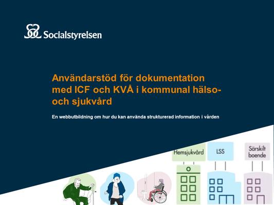 Profilbild för Socialstyrelsens utbildning om ICF och KVÅ i kommunal hälso- och sjukvård