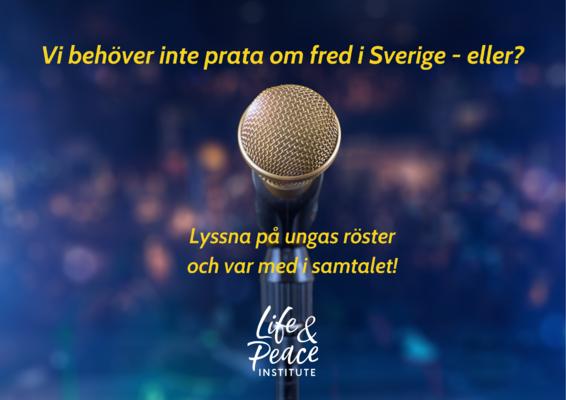 Profilbild för Vi behöver inte prata om fred i Sverige - eller?